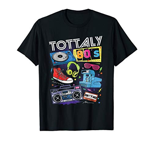 Funny 80s Retro Shirt 1980s Party Tshirt Turntable ()