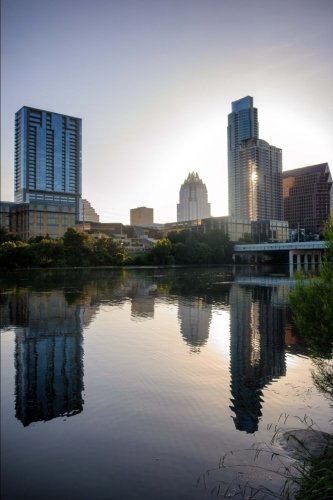 Austin, Texas Skyline Journal: 150 page lined notebook/diary