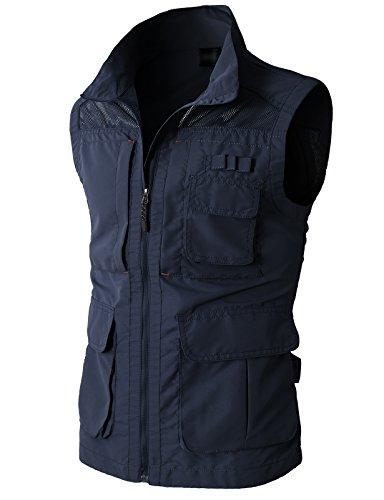 H2H Mens Casual Travels Sportswear Silver Ridge Vest NAVY US XL/Asia XXL (KMOV080)