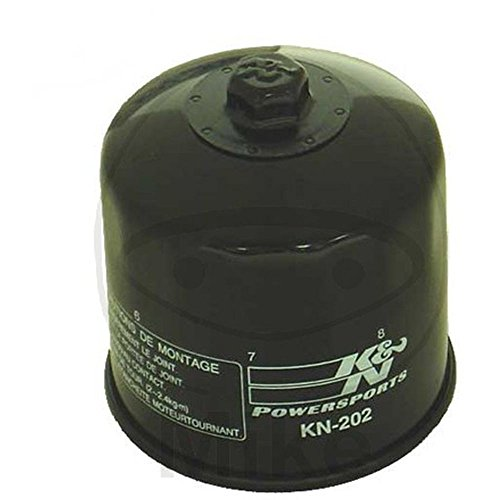 KN-202 K&N Performance Oil Filter; POWERSPORTS; CANISTER (Powersports Oil Filters):