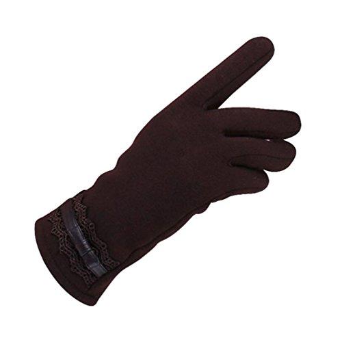Guantes calientes para Mujeres,Ouneed ® Moda para mujer invierno guantes caliente al aire libre para la conducción deportiva marrón