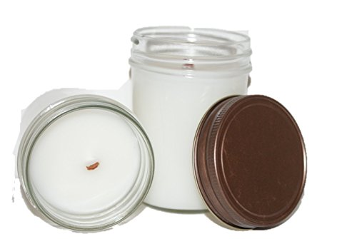 ChicWick Candles 2Pack Spiced Cranberry Wooden Wick Mason Jar Soy Blend 6 oz each 12 oz total Cranberry Spice ()