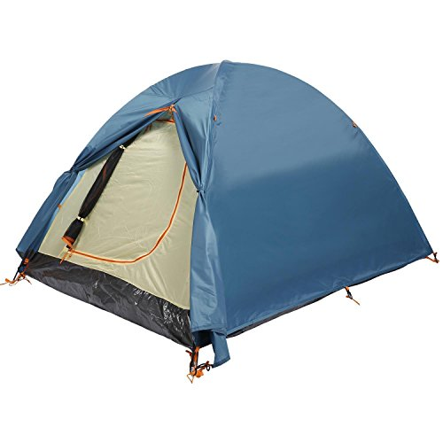 2-Person Dual Layer Camping Hiking Tent 2-Pole Freestanding Dome Tent (Blue)