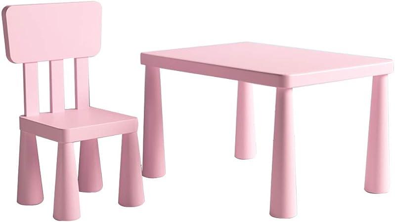 Conjunto Mesa Y Silla para Niños Escritorios Y Sillas De Jardín Infantil Mesa De Pintura Escritorio Mesa De Comedor para Niños (Color : Pink, Size : 77x55x48cm): Amazon.es: Hogar