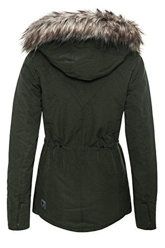Khujo Mujer Chaqueta de invierno Parka Abrigo Corto Dark Olive 330