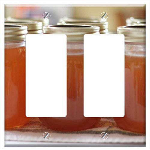 Switch Plate Double Rocker/GFCI - Jelly Peach Jelly Canning Preserve Homemade ()
