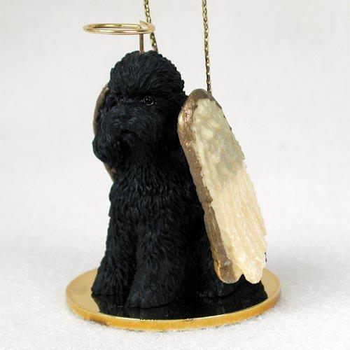 - Poodle Sportcut Angel Dog Ornament - Black