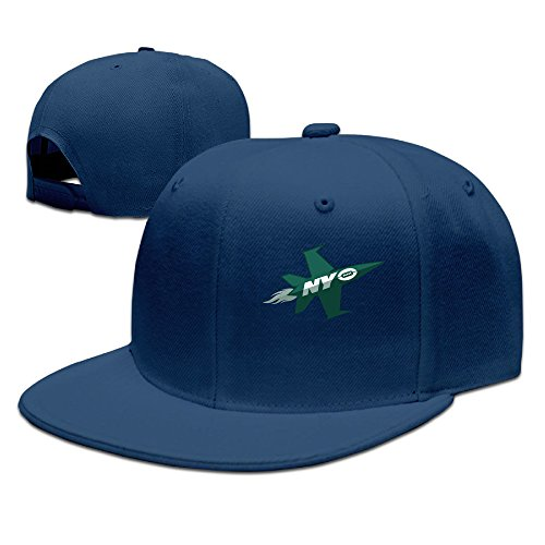 LALayton Unisex New York Plane Jets Funny Cotton Visor Topless Sun Hat - Navy (Bowle Halloween)