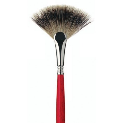 Escoda Arco 4338 Oil and Acrylic Badger Hair Paint Brush Fan Size 4 by Escoda