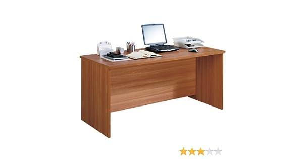 Azor - Mesa despacho 160, medidas 160 x 75 x 73 cm, color nogal ...