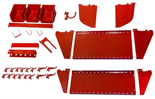 - Wall Control KT-400-WRK R Slotted Tool Board Workstation Accessory Kit for Wall Control Pegboard Only, Red