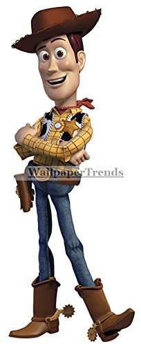 "11"" Woody Cowboy Toy Story Disney Pixar Removable Peel Self Stick Adhesive Vinyl Decorative Wall Decal Sticker Art Kids Room Home Decor Girl Boy Children Bedroom Nursery 11 x 4 Inch"