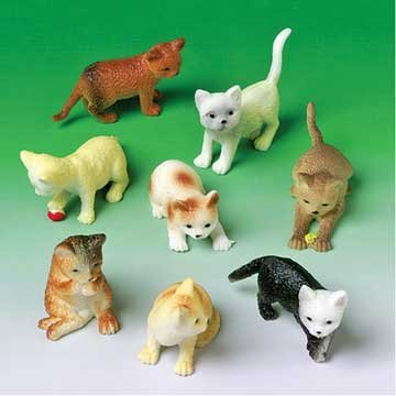 Mini Cat Figures Asst. (12 count) - Small Kittens Shopping Results