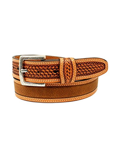 - Ariat Unisex-Adults Basket Billet Double Stitch Edge Belt, Brown, 36