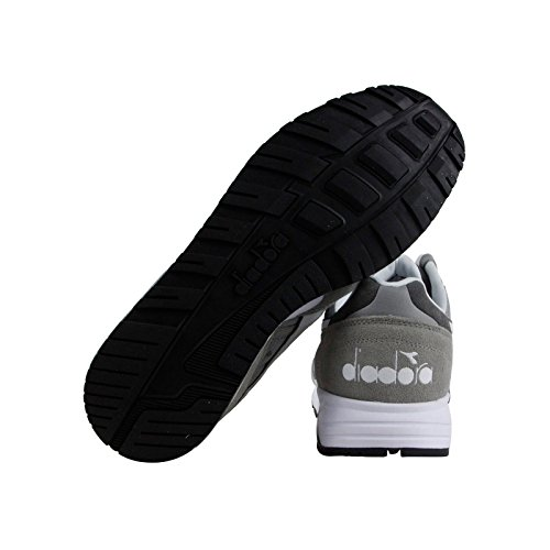 Diadora N902 Hommes Gris Toile / Cuir Athlétique Lacets Chaussures Dentraînement