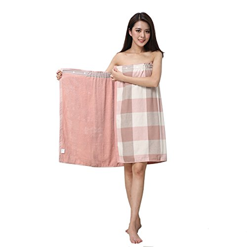 Enchanting Bra Cotton - DayCount Bath Towel Skirt Fresh Striped Towel Bra Dress Cotton Wearable Bathrobes Skirt, Spa Beach Swim Bath Shower Drying Towel Wrap Cover Up for Home Hotel Nightgown (Pink)