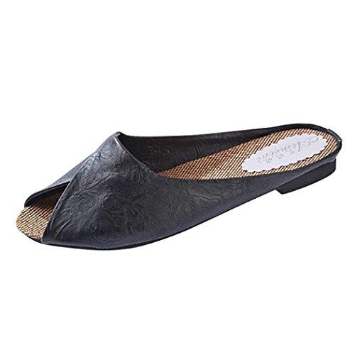 Roman Style Hollow out Women Heels Heeled Sandals(Black) - 5