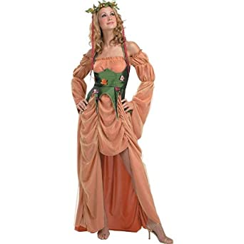 b6e932daa22 Amazon.com: Mother Nature: Goddess of the Earth Teen Costume: Clothing