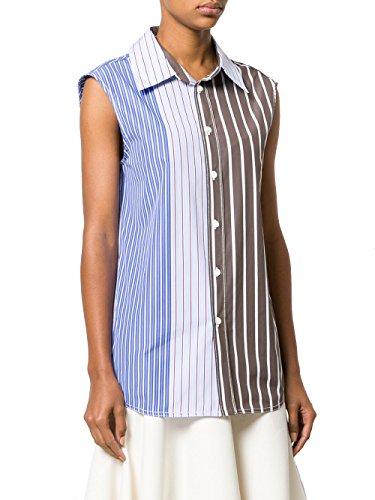 Marni Women's Ttmaw24a00tcv77stm45 Light Blue/Grey Cotton Shirt Marni Women Dresses