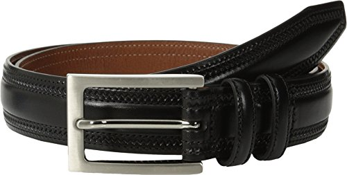 Johnston & Murphy Men's Double Pinked Belt,Black,Size 44