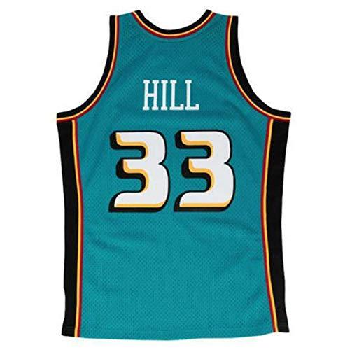 Mitchell & Ness Grant Hill # 33 Detroit Pistons 1998 - 99 Swingman NBA Camiseta Turquesa, S: Amazon.es: Deportes y aire libre