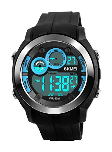 Men Watches LED Digital Watch Man Waterproof PU strap Clock Relogio Masculino Relojes Hombre Outdoor Sports Watches