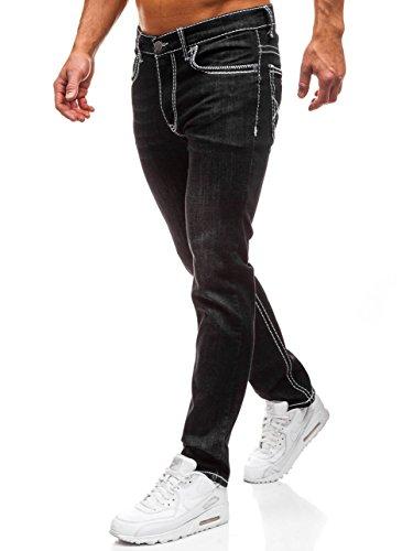 6F6 710 BOLF Clubwear Fit Estilo Pantalón Vaquero Slim Hombre Negro Diario ZqwZx8v