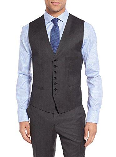Salvatore Exte Men's Suit 3-Piece Two Button Blazer Jacket Flat Front Pants (54 Regular US / 64R EU / W 48'', Modern Fit Charcoal) by Salvatore Exte (Image #5)