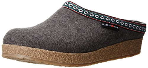 Haflinger GZ Clog,Grey,40 EU/Women's 9 M US/Men's 7 M US