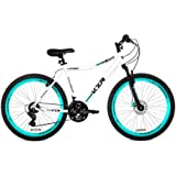"26"" Women's Kent KZR Mountain Bike, White/Teal, 21-speed Shimano drivetrain (White/Teal)"
