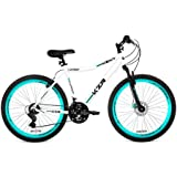 26' Women's Kent KZR Mountain Bike, White/Teal, 21-speed Shimano drivetrain (White/Teal)