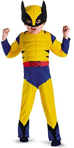 Wolverine Classic Muscle Toddler - Size: 3T-4T - Wolverine Origins Classic Muscle Costumes
