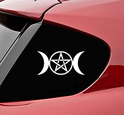 Wiccan triple moon goddess vinyl decal sticker