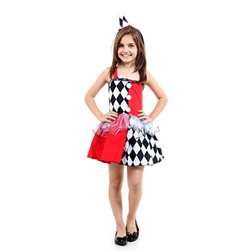 Fantasia Colombina Luxo Infantil Sulamericana Fantasias G 10/12 Anos