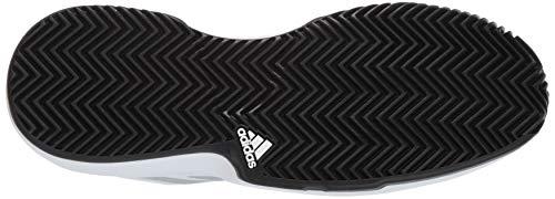 adidas Men's Gamecourt, White/Matte Silver/Black, 7.5 M US by adidas (Image #3)