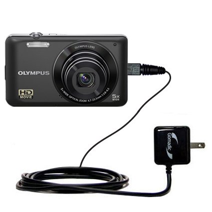 Gomadic Intelligent Compact AC Home Wall Charger suitable for the Olympus VG-140 - High output power with a convenient, foldable plug design - Uses TipExchange Technology by Gomadic (Image #8)