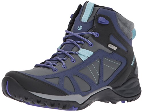 Merrell Women's Siren IQ Q2 Mid Waterproof Hiking Boot, Turbulence, 9 M US by Merrell