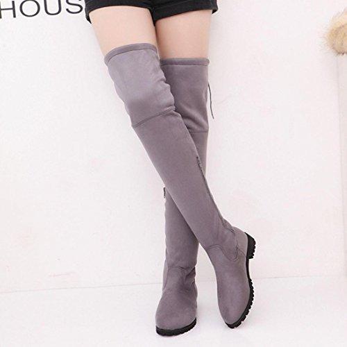 5b2b500f2c90f7 Stiefel damen Kolylong® Frauen Elegant Lange Stiefel mit absatz Herbst  Winter Warm Stiefeletten Über knie ...