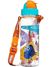 Disney Finding Nemo BPA-Free Tritan Bottle with Straw and Safety Release Strap, Green, 450ml