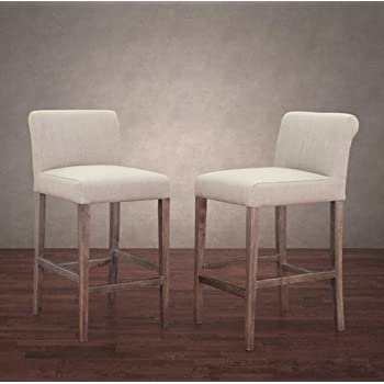 Amazon Com Parson Classic Linen Counter Height Chairs Bar