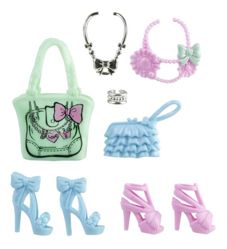 Mattel Barbie Fashionistas Glam and Sweetie Accessories: Pink & Blue Shoes