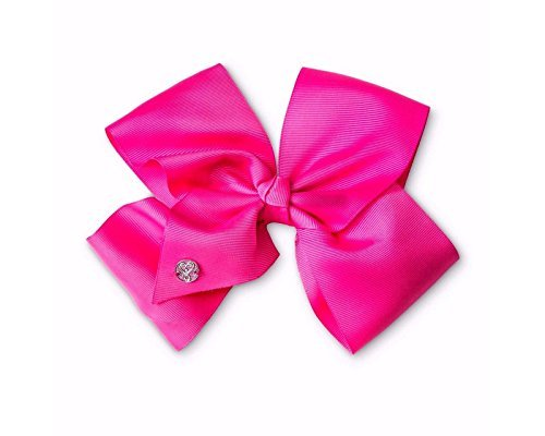 JoJo Siwa Large Neon Pink Signature Hair Bow Dance Hair Bow Cheerleader Big Bows -