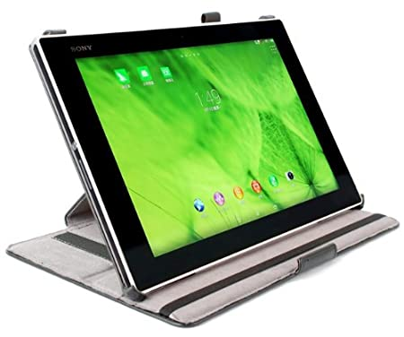 FGS C01865 SONY Xperia Tablet Z2 Stitch Synthetic Leather Case/Stand (Black) <span at amazon
