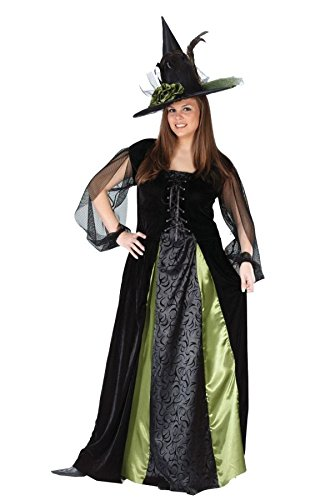 FunWorld Women's Plus Goth Maiden Witch, Black, 16W-24W -