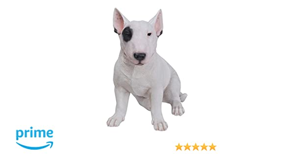 Large Bull Terrier Sitting Dog Life Like Garden Home Decor Statue Free Shipping