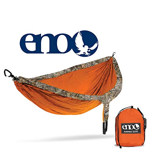 ENO - Eagles Nest Outfitters DoubleNest Camo, Portable Hammock for Two, Realtree Edge:Orange
