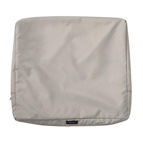 Classic Accessories Ravenna Patio Back Cushion Slip Cover, Mushroom, 21″ x 20″ x 4″