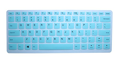 CaseBuy Silicone Keyboard Protector Cover for Lenovo Yoga 710 14 14, Yoga 710 15 15.6, Flex 4 14, ideapad 110 14, ideapad 310s 14, ideapad 510s 14 US Layout, Mint Green