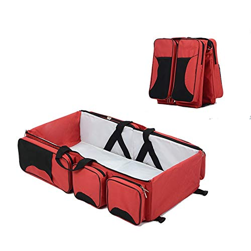 Prime Products - 3 in 1 Diaper Bag, Multi functional Travel Bag, Folding Crib, and Changing Station (Bassinet Folding Travel)
