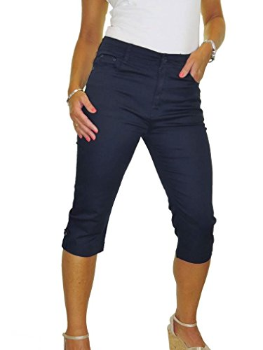 Elasticità Polsino Capri Ice 52 Jeans Lucentezza Scuro 42 Blu Con E qtYTURY